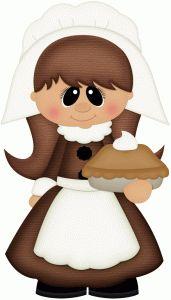 Pilgrim clipart lady #6
