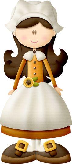 Pilgrim clipart lady #8