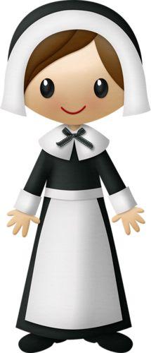 Pilgrim clipart lady #1