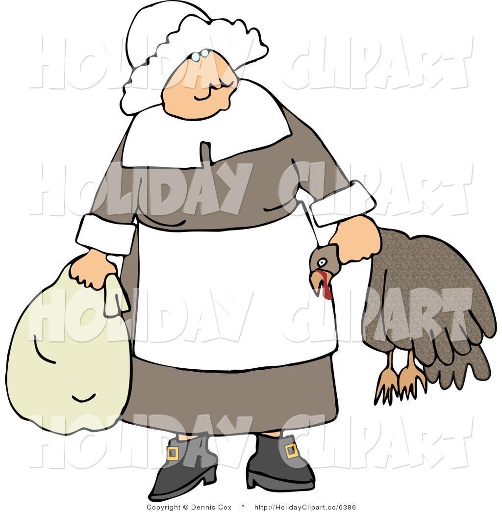 Pilgrim clipart lady #12