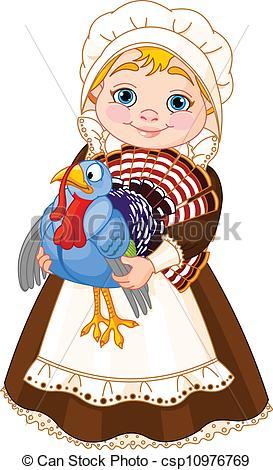 Pilgrim clipart lady #4