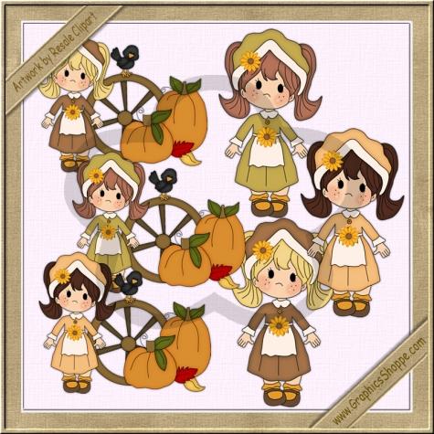 Pilgrim clipart little Pilgrim Little Art Clipart 00