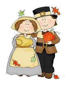 Pilgrim clipart little ArtHalloween Thanksgiving Digi 11 and