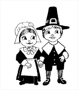 Pilgrim clipart little  and Free Images Thanksgiving