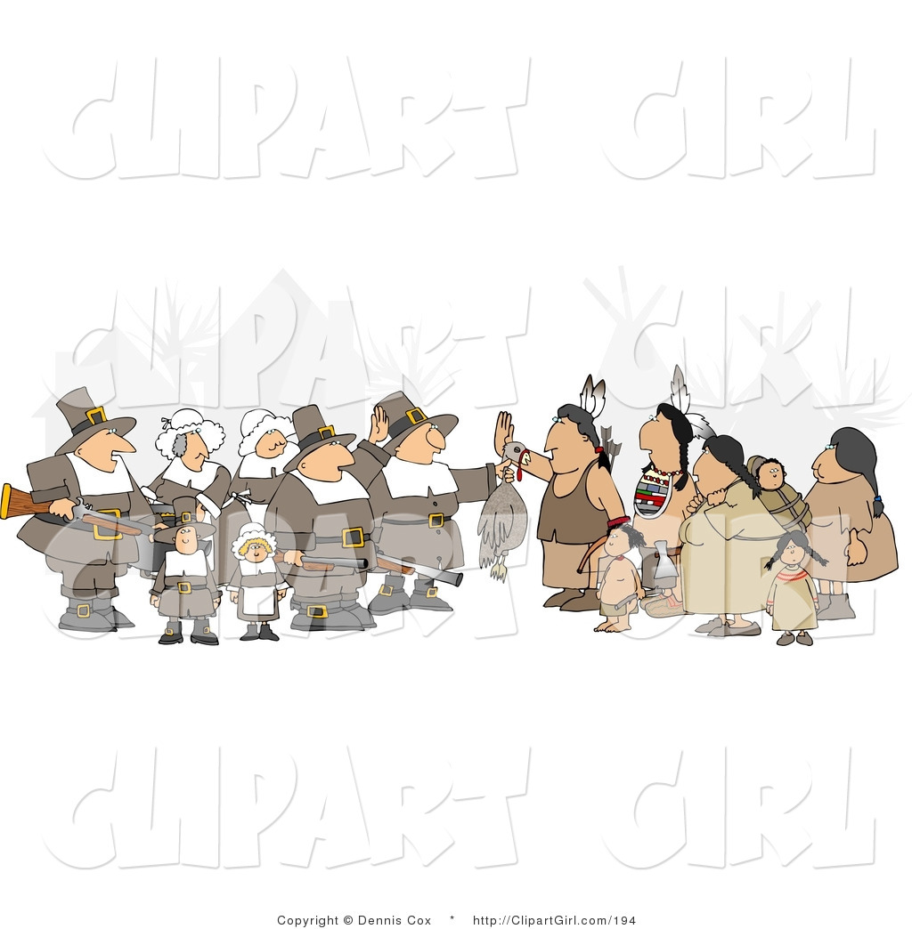 Pilgrim clipart native american As Guy of the Holding
