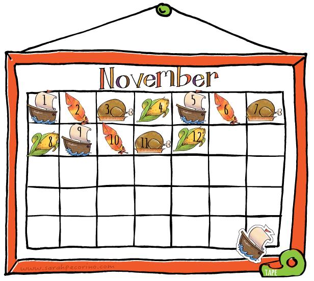 Calendar clipart november Clipart collections november Calendar Best