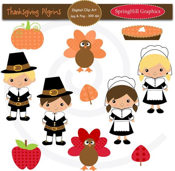 Pilgrim clipart pilgrimage Pilgrims Fall Clip Scrapbooking Thanksgiving