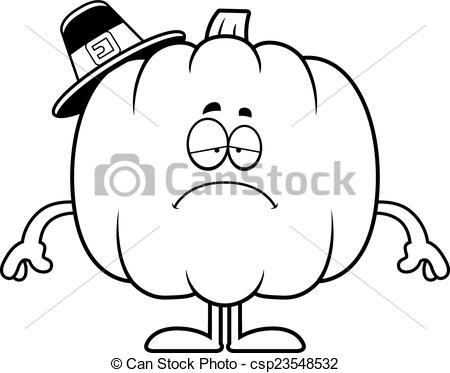 Pilgrim clipart sad Cartoon Sad of Pilgrim Pumpkin