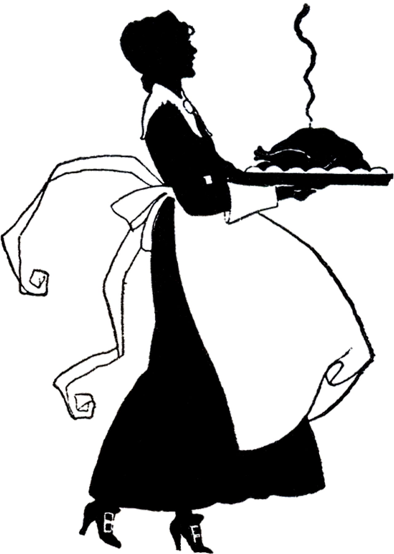 Pilgrim clipart silhouette Thanksgiving Lady Pilgrim Graphics Silhouette