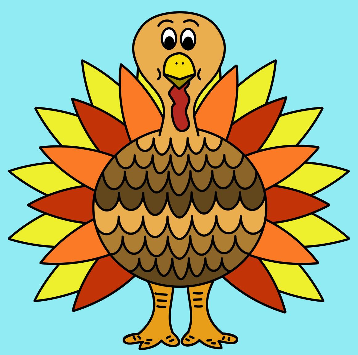 Turkey clipart colored #3