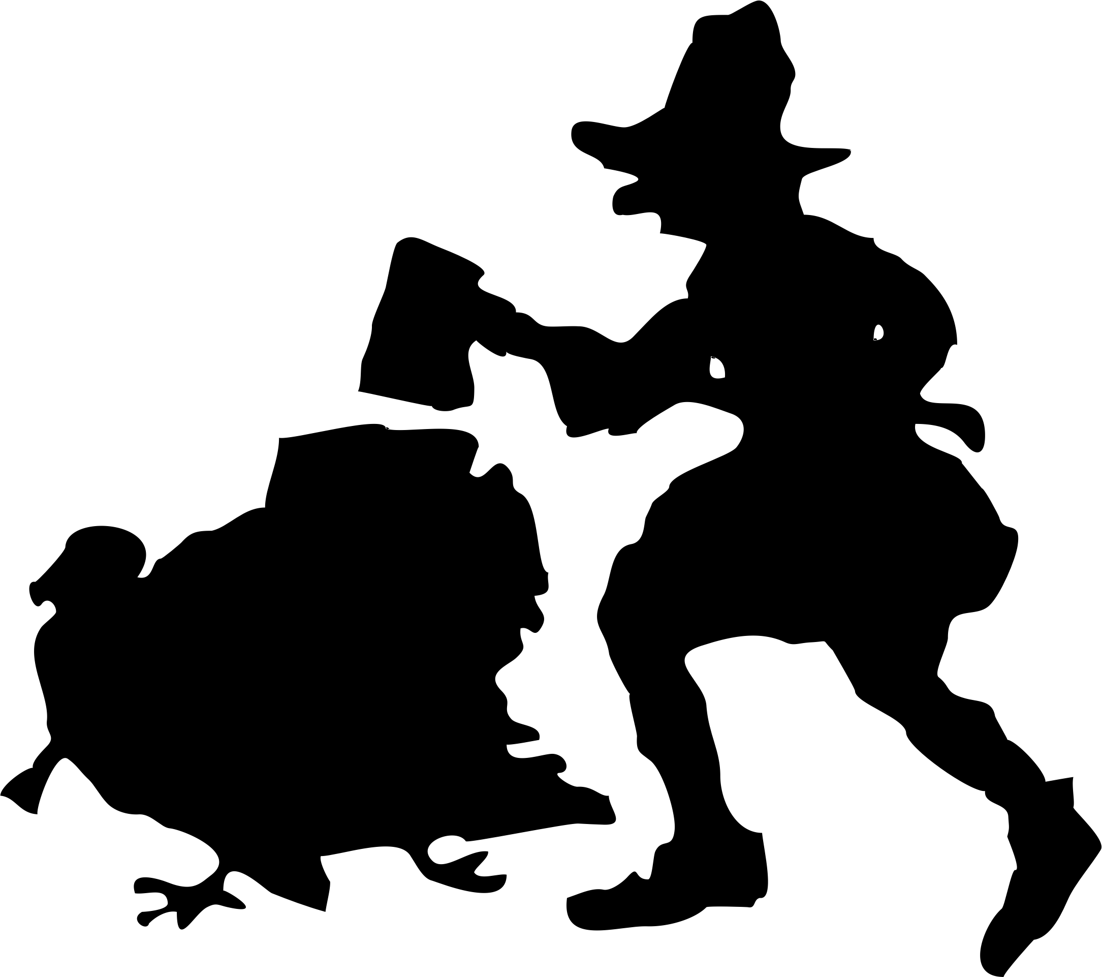 Turkey hunt silhouette hunt Clipart