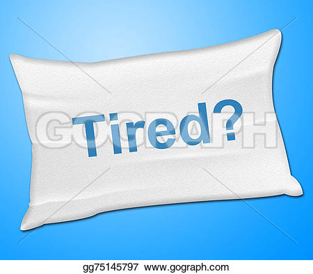 Pillow clipart bedding Stock yawn represents Stock Clipart