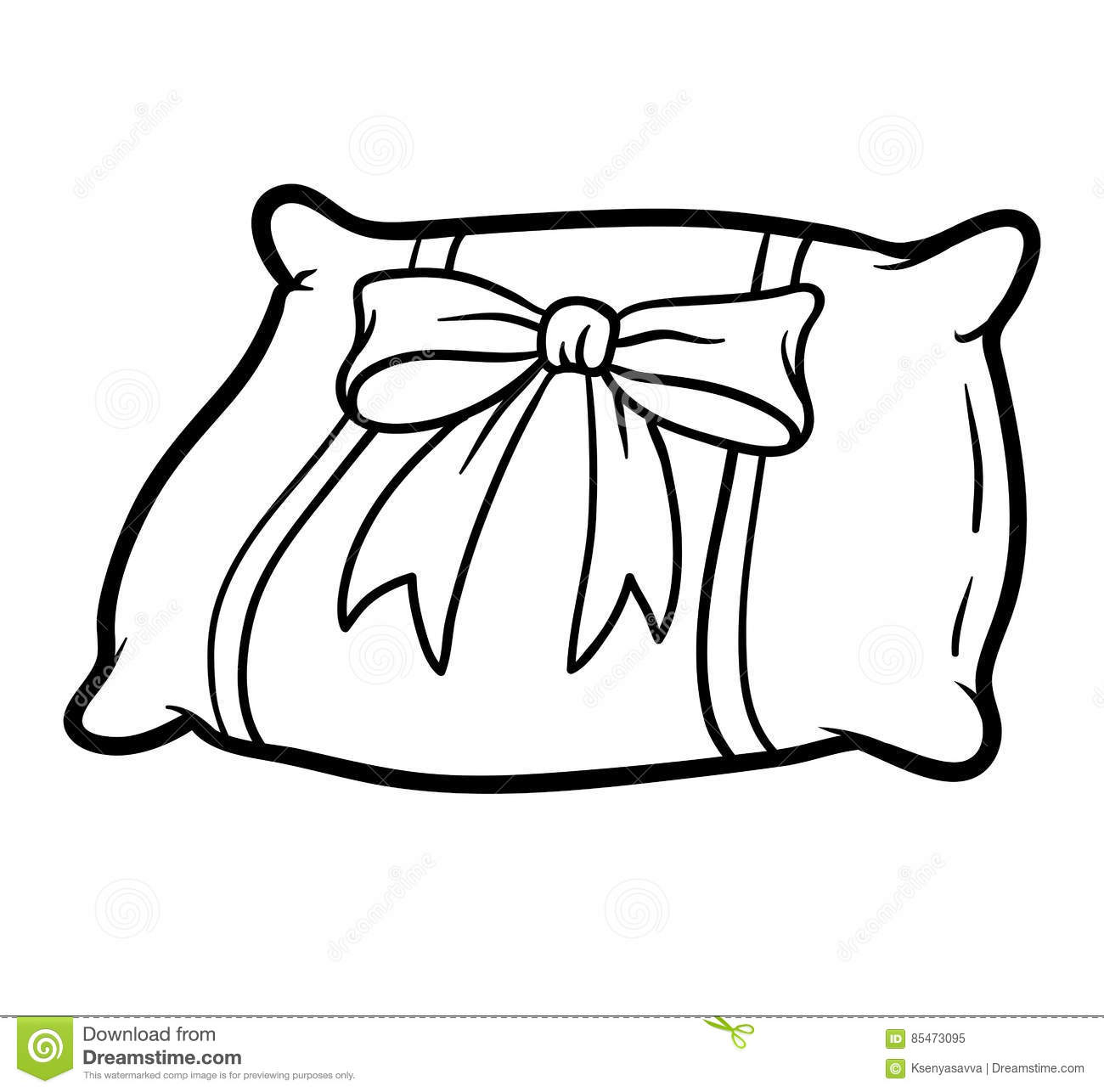 Pillow clipart coloring Download Pillow coloring drawings Pillow