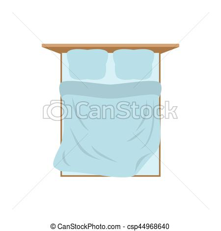 Pillow clipart double bed White top top blanket Bed