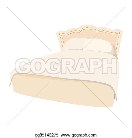 Pillow clipart double bed With Illustration Luxury  icon