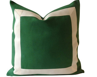 Pillow clipart kelly green Ribbon Covers pillow Decorative Cotton