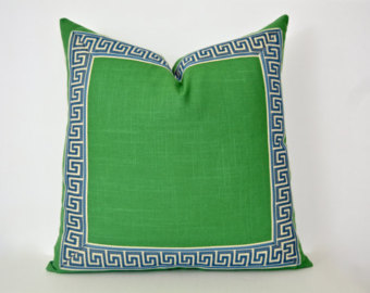 Pillow clipart kelly green Cover Etsy Green Key Geometric