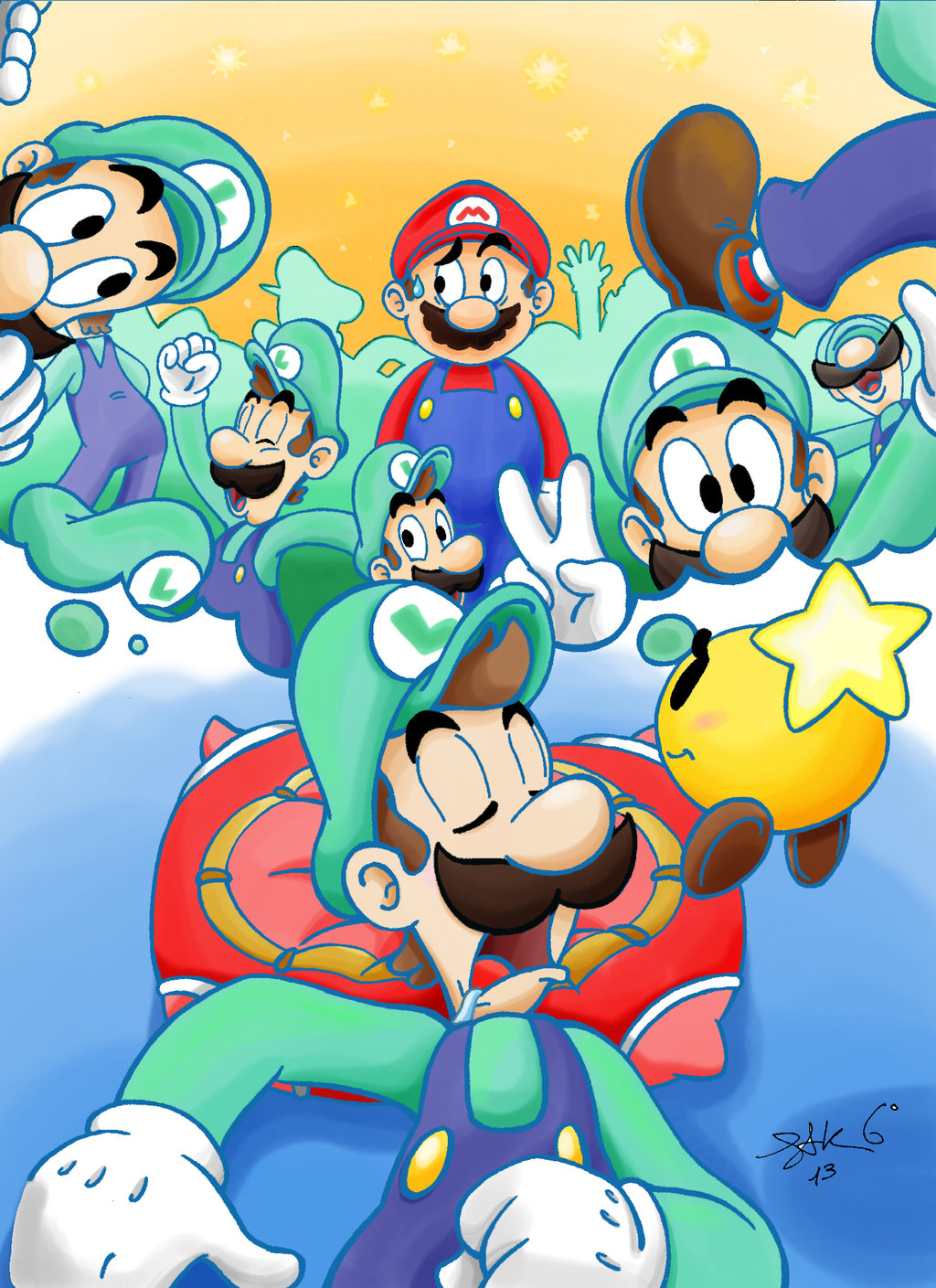 Pillow clipart mario and luigi dream team By  and in Trapped