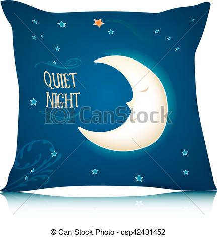 Pillow clipart night Moon Square  csp42431452 Pillow