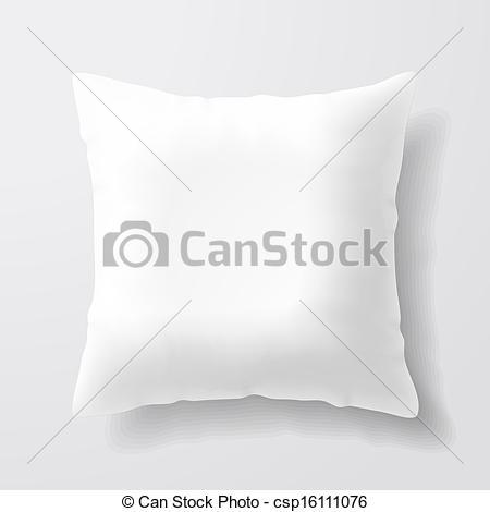 Pillow clipart square pillow  white Illustration illustration of