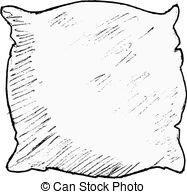 Pillow clipart square pillow  pillow Pillow white Hand
