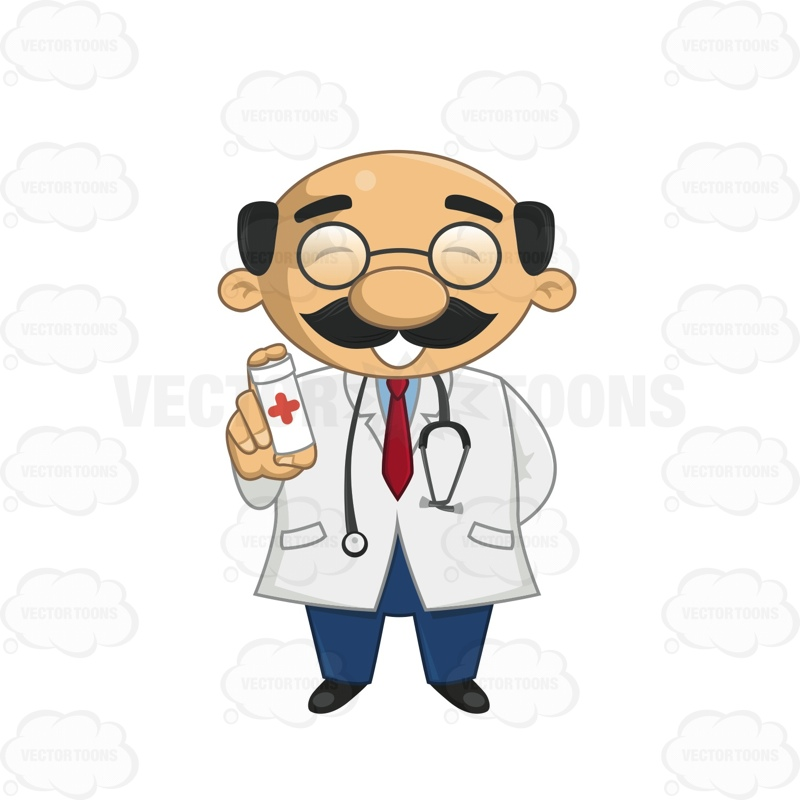 Pills clipart doctor prescription Doctor Out Cartoon A Closed