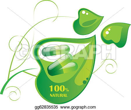 Pills clipart green Clipart capsule leaf a Drawing