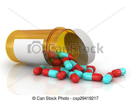 Pills clipart spilled Of Pills  Clipart out