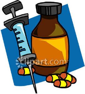 Syringe clipart pills Free a Bottle Pills Bottle