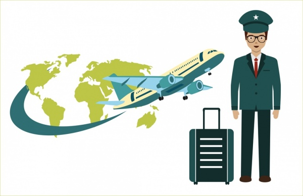 Aviation clipart travel Concept vector Free (332 continent