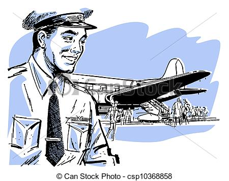 Pilot clipart airline pilot A of of Illustrations pilot