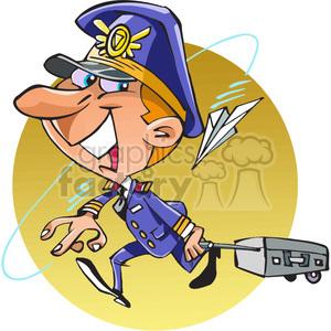 Pilot clipart airline pilot Cartoon Royalty clip cartoon airline