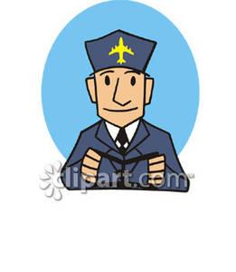 Pilot clipart airline pilot #1