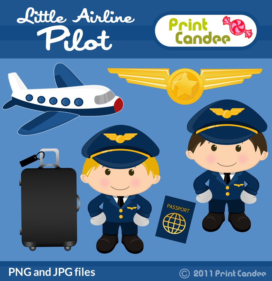 Pilot clipart airline pilot Print Airline 50 Candee $3