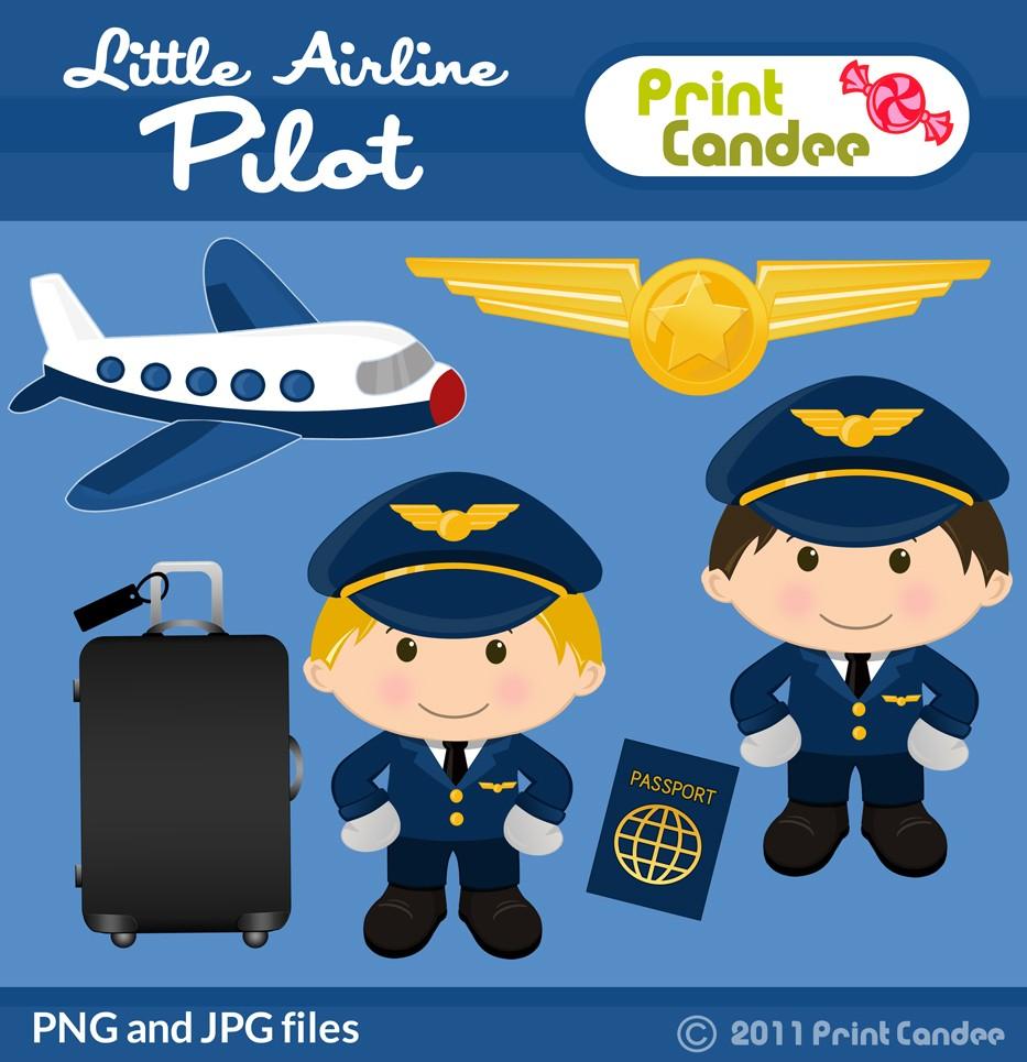 Pilot clipart airline pilot #2