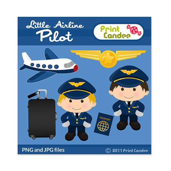 Pilot clipart airline pilot Little Digital Pilot printable Art