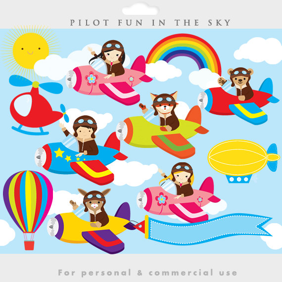 Airplane clipart pilot #2