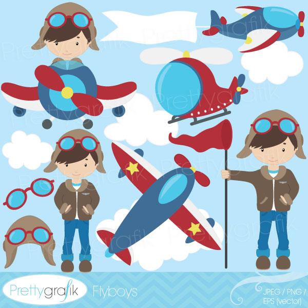 Airplane clipart pilot #6