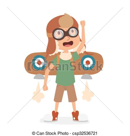 Aviation clipart female pilot Playing csp32536721 Illustration vector aviation