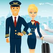 Steward clipart cabin crew GoGraph airport Royalty airplane Flight