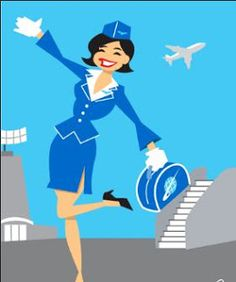 Wings clipart flight attendant Pinterest loves ˡ᷅ͮ˒) Flight Job❤