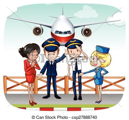 Steward clipart cabin crew Vector 407 the Stock and