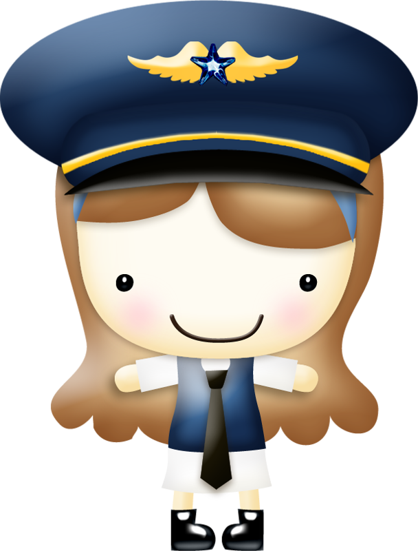 Aircraft clipart female pilot Airplanes pilot  ? Brown