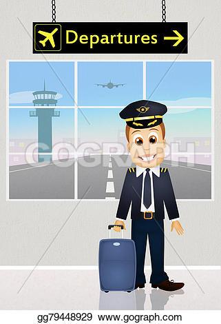 Pilot clipart funny Of Illustration Drawing Illustration gg79448929