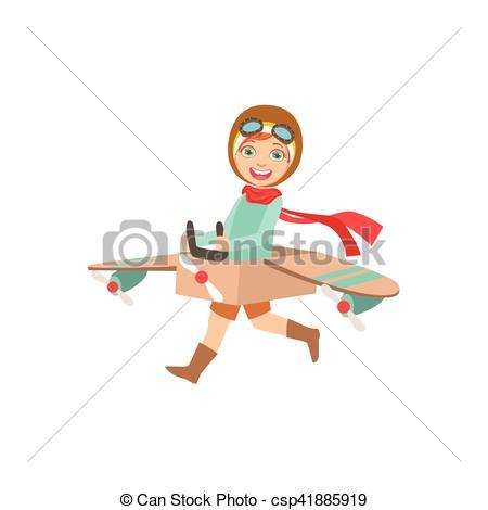 Pilot clipart little boy #2
