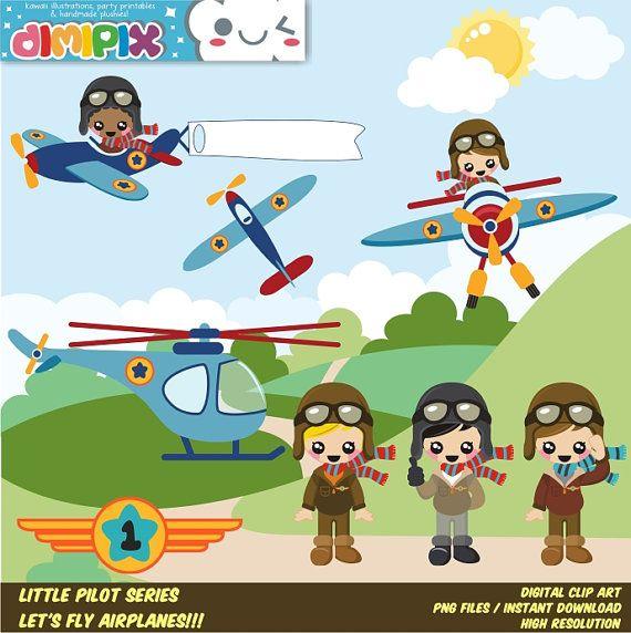 Pilot clipart little boy #4