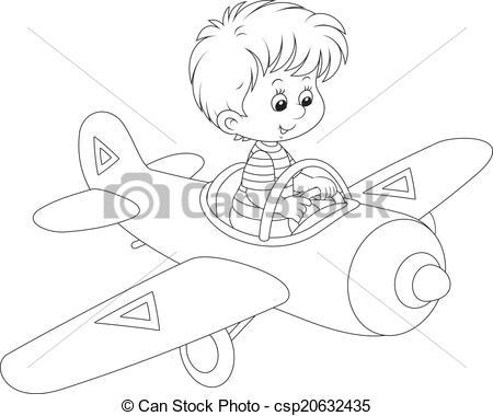 Pilot clipart little boy #5