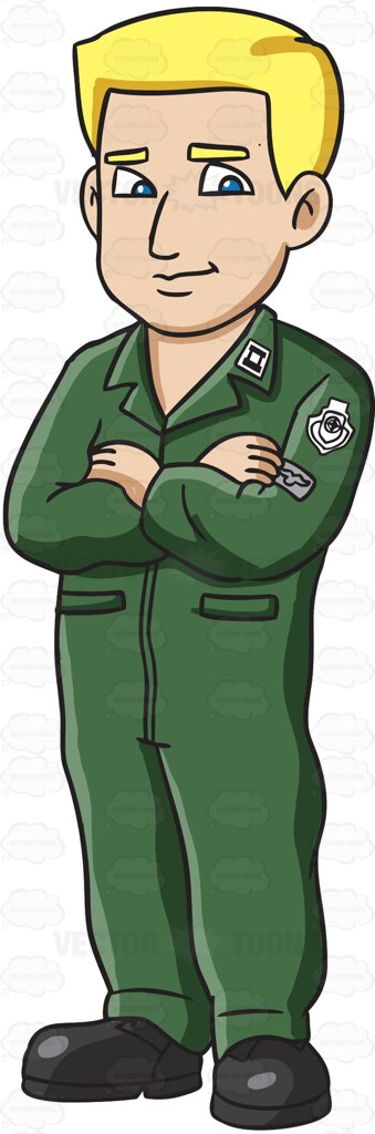 Soldier clipart airforce Dressed Trainee Flight Green A