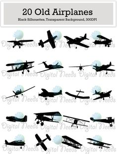 Pilot clipart old airplane Airplane of is INSTANT Silhouettes