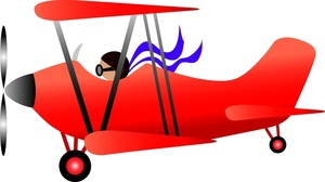Pilot clipart old airplane Image: Classic Clipart Biplane Classic